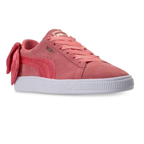 buy popular 25c27 78a0a 🆕PUMA SUEDE BACK BOW SNEAKERS NWT